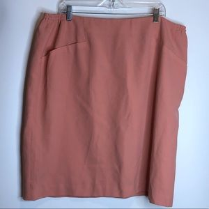 August Max Woman Peach Skirt 24 PLUS SIZE